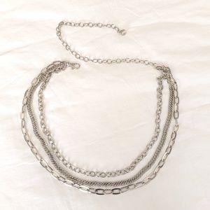 CHICO'S Multi-strand Chain Belt Silver